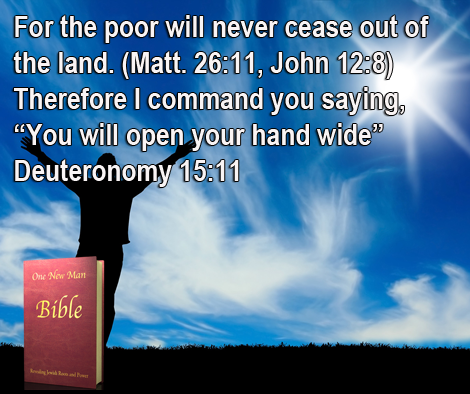 One New Man Daily Word : Deuteronomy 15:11
