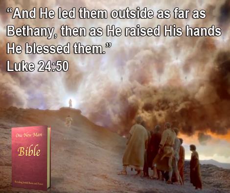 One New Man Daily Word : Luke 24:50