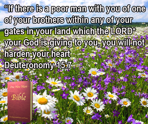 One New Man Daily Word : Deuteronomy 15:7