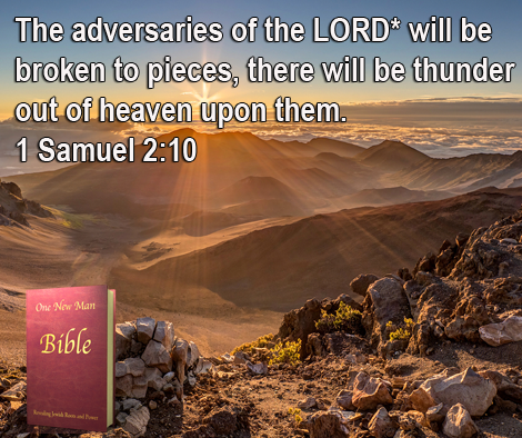 One New Man Daily Word : 1 Samuel 2:10