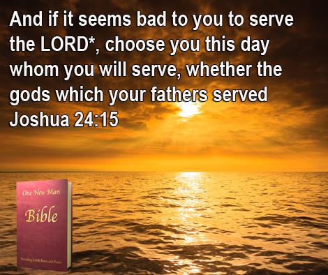 One New Man Daily Word : Joshua 24:15