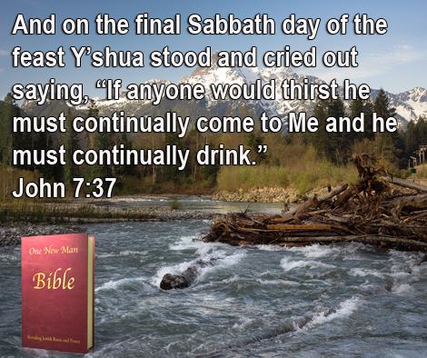 One New Man Daily Word : John 7:37