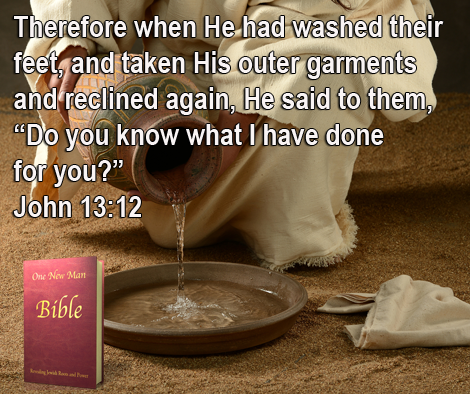One New Man Daily Word : John 13:12